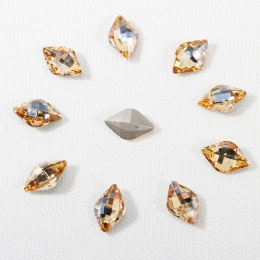 Capri Blue crystal pointback stones for clothing