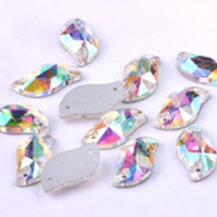 Popular S shape glass rhinestone with hole